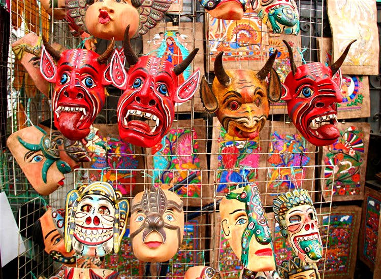 Mexico Handicrafts Mask Alebrijes MexVax mexican hotels and resorts