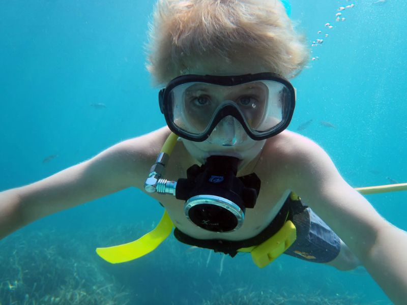 diving for kids in cancun MexVax mexican hotels and resorts
